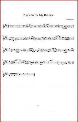Concerto for My Brother (Experimental Short Story)